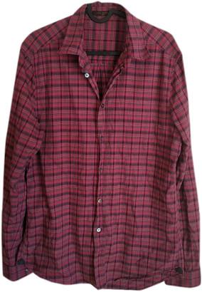 Louis Vuitton Burgundy Cotton Shirts