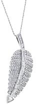Jennifer Meyer 10th Anniversary Large Pavé Diamond Leaf Necklace - White Gold