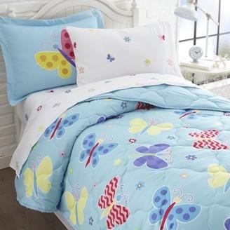 Wildkin Butterfly Garden 7 pc Microfiber Bed in a Bag - Full