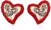 Vivienne Westwood Zita Heart Stud Earrings
