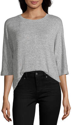 A.N.A Womens Crew Neck 3/4 Sleeve Blouse