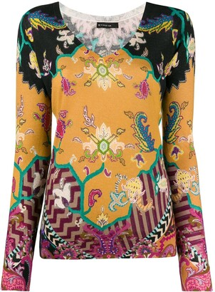 Etro paisley patterned sweater