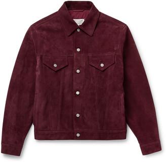 Maison Margiela Suede Blouson Jacket - Men - Burgundy