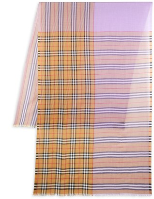 Burberry Wool & Silk Check Scarf
