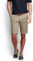 "Classic Men's Fit 11"" Plain Front Casual Chino Shorts-Nautical Rope Print"