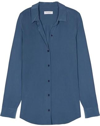 Equipment Long-Sleeve Silk Shirt