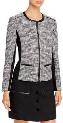 Karl Lagerfeld Paris Tweed Zip Jacket