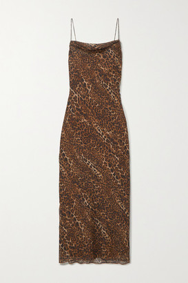CAMI NYC The Carla Leopard-print Silk-chiffon Midi Dress - Brown