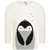 Catimini CatiminiBaby Girls Ivory Penguin Applique Top