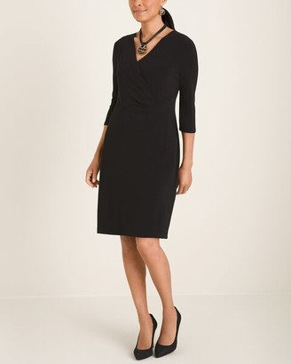 So Slimming Solid Wrap Dress