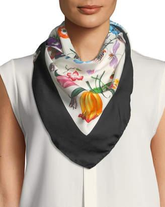 Gucci Floral-Print Silk Scarf