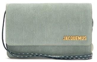 Jacquemus Le Riviera Leather-corduroy Shoulder Bag - Khaki