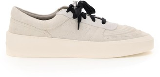 Fear Of God SKATE LOW LEATHER SNEAKERS 40 Grey, Beige Leather