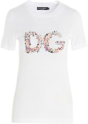 Dolce & Gabbana Floral Monogram T-Shirt