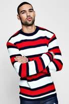 boohoo Marl Stripe Knitted Jumper