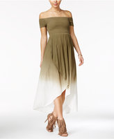American Rag Off-The-Shoulder Tulip-Front Maxi Dress, Created for Macy's