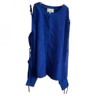 3.1 Phillip Lim Blue Silk Top for Women