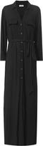 L'Agence Black Maxi Shirtdress Black P