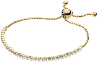 Pandora 18K Over Silver Cz Sparkling Strand Bracelet