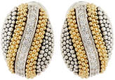 Lagos Soiree Oval Button Earrings w/ Diamonds