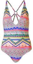 Aztec print swimsuit