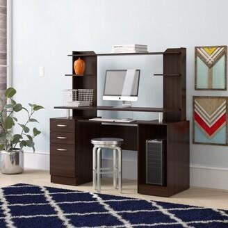 Latitude Run Bengal Work Center Computer Desk with Hutch