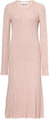 Mansur Gavriel Cableknit Knee-length Sweater Dress