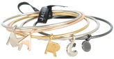 Marc by Marc Jacobs Marc Charm Bangle Set (Mixed Metal) - Jewelry
