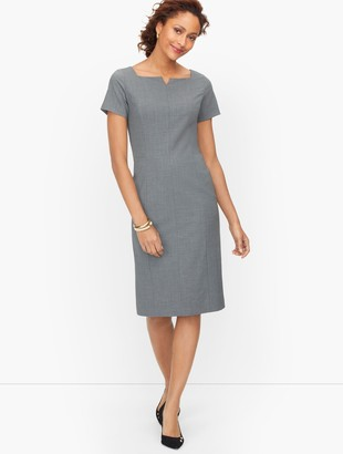 Talbots Luxe Wool Sheath Dress - Grey Melange