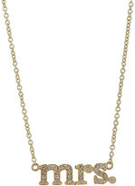 "Jennifer Meyer Women's ""Mrs."" Pendant Necklace"