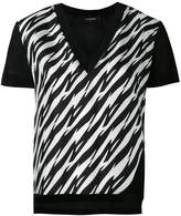 DSQUARED2 houndstooth slit V-neck T-shirt