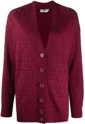 Fendi FF knitted cardigan