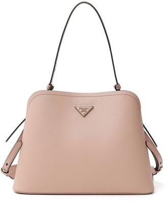 Prada Logo Top Handle Shoulder Bag