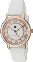 Tommy Hilfiger Women's Quartz Gold and Silicone Casual Watch, Color: (Model: 1781670)