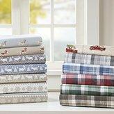 Woolrich Flannel Sheet Set Brown Cal King