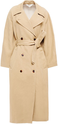 Samsoe & Samsoe Samse Samse Magda Cotton And Linen-blend Canvas Trench Coat