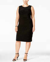 Calvin Klein Plus Size Pleated Bandage Dress