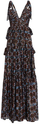Ulla Johnson Lirra Printed Sleeveless Silk Gown