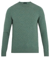 Zanone Crew-neck Weave-knit Wool Sweater