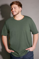 Yours Clothing BadRhino Khaki T-Shirt With Chest Pocket