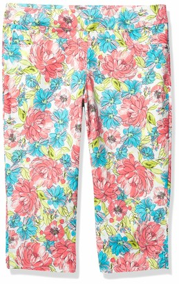 Ruby Rd. Women's Plus Size Floral Denim Capri