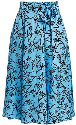 MUNTHE Judy Floral Midi Skirt