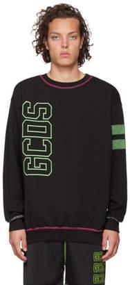 GCDS Black Logo Double Stroke Sweatshirt