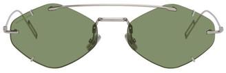 Christian Dior Silver and Green DiorInclusion Sunglasses