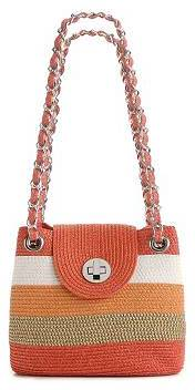 Kelly & Katie Striped Straw Shoulder Bag