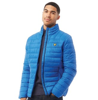 Lyle And Scott Vintage Mens Lightweight Quilted Jacket Imperial Blue