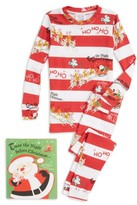 Toddler Books To Bed Twas The Night Before Christmas Fitted Two-Piece Pajamas & Book Set