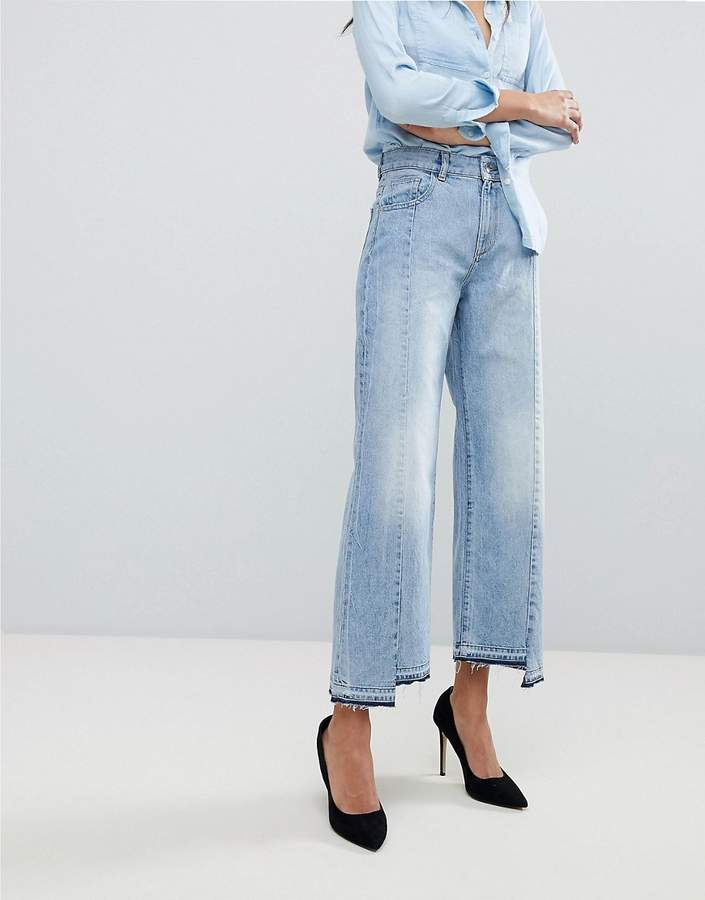 DL1961 Hepburn High Waist Crop Jean with Uneven Hem
