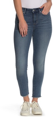 William Rast Sculpted High Rise Fray Hem Skinny Jeans