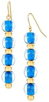 Gold And Honey 4-Drop Goldplated & Lucite Bead Earrings